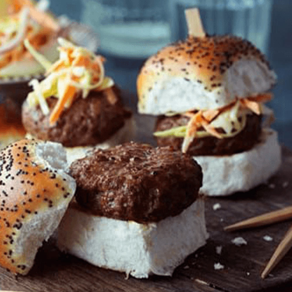 Mini Burgers with Apple and Chilli 'Slaw Image 1