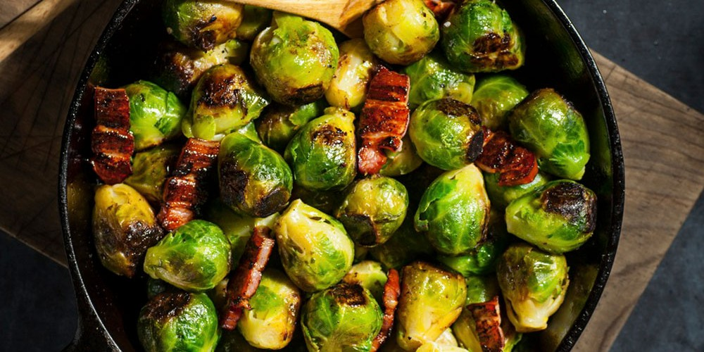 Chestnuts with Brussels Sprouts & Lardons