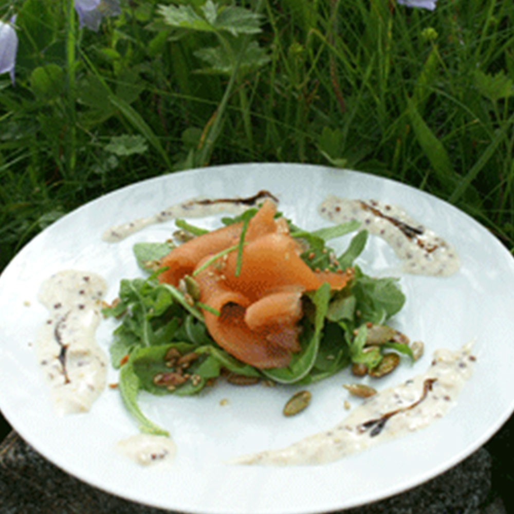 PEAT -SMOKE ROASTED SALMON & TOASTED SEED SALAD Image 1