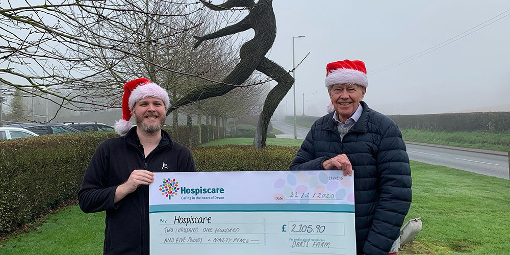 Santa Delivers Donation to Hospiscare!