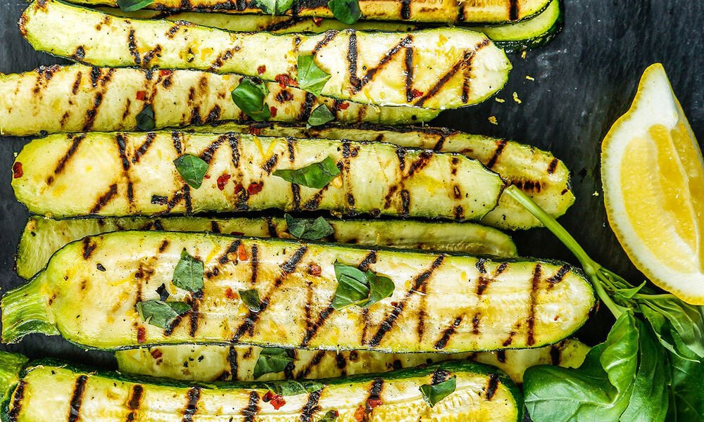 Barbecued courgettes with lemon & mint Image 2