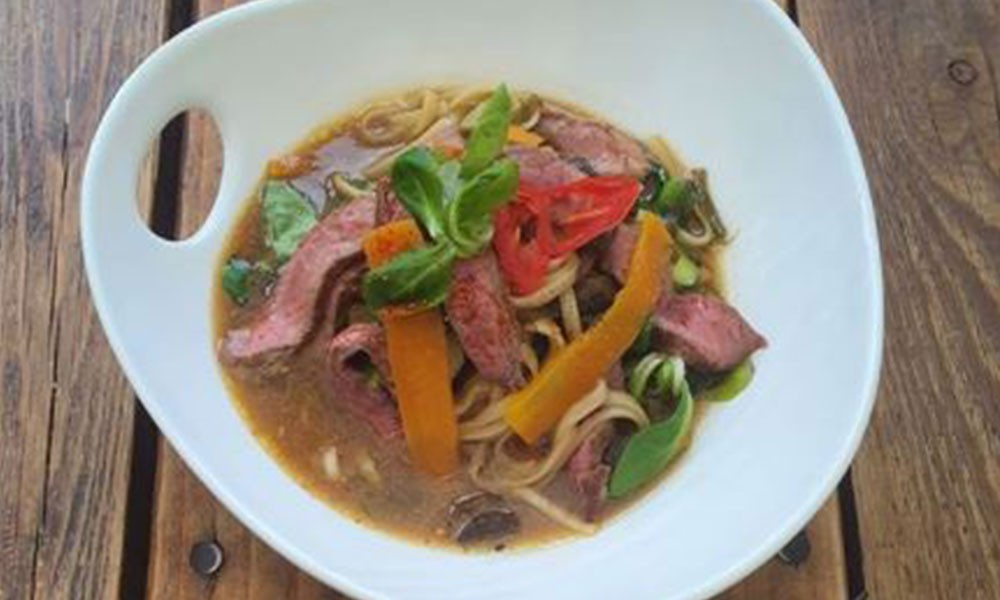 Sirloin Steak Noodle Broth Image 2