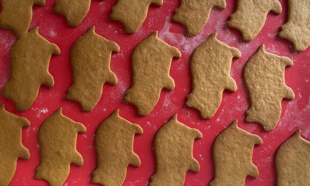 THE PIG's Gingerbread Biscuits